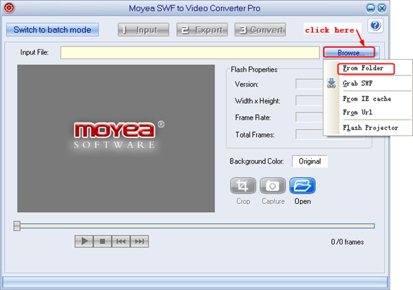 Import SWF file